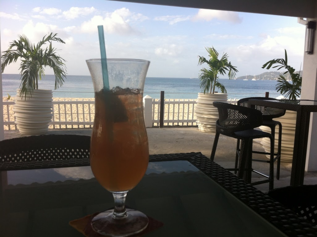 cocktail on beach in grenada