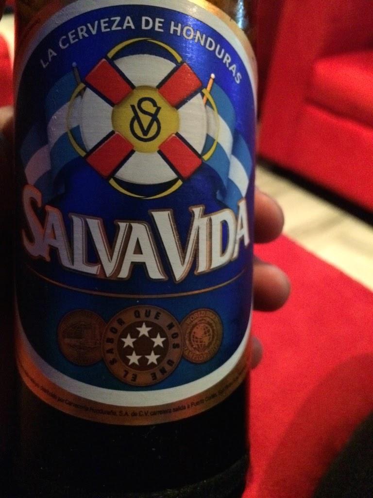 bottle of salva vida beer