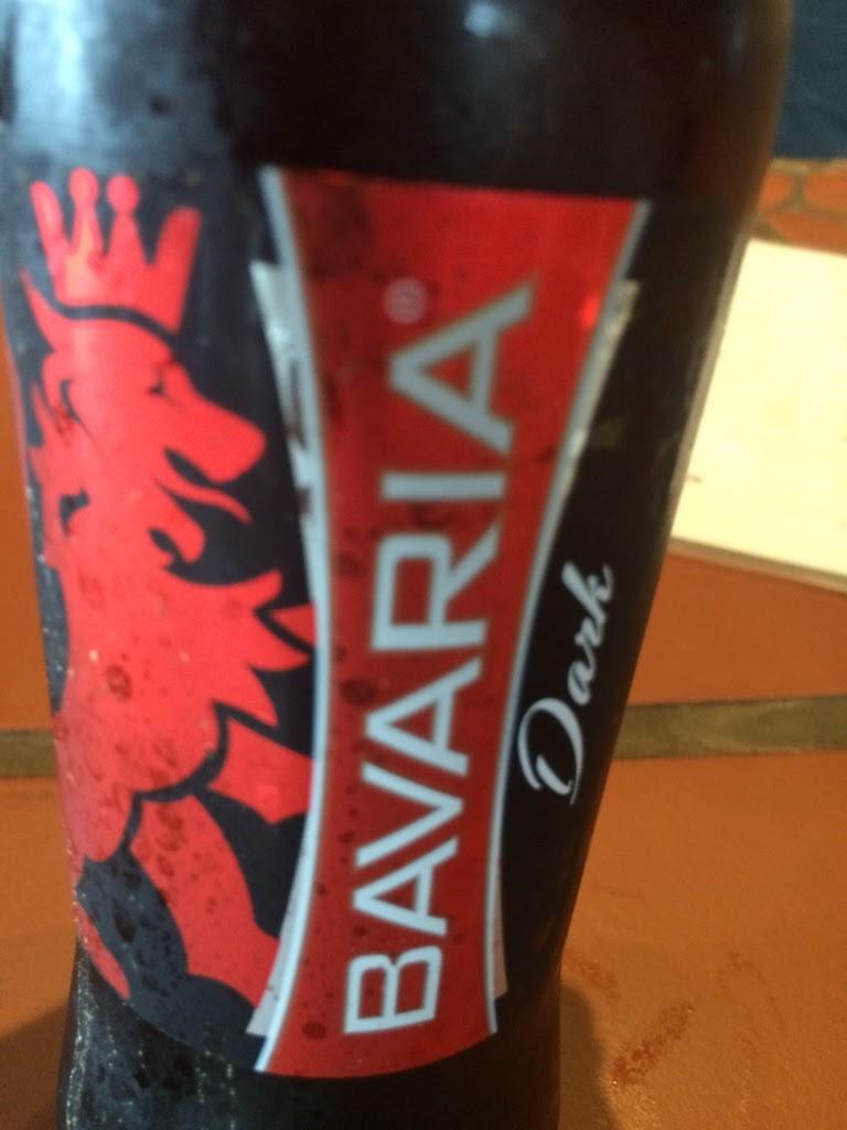 bottle of bavaria dark beer
