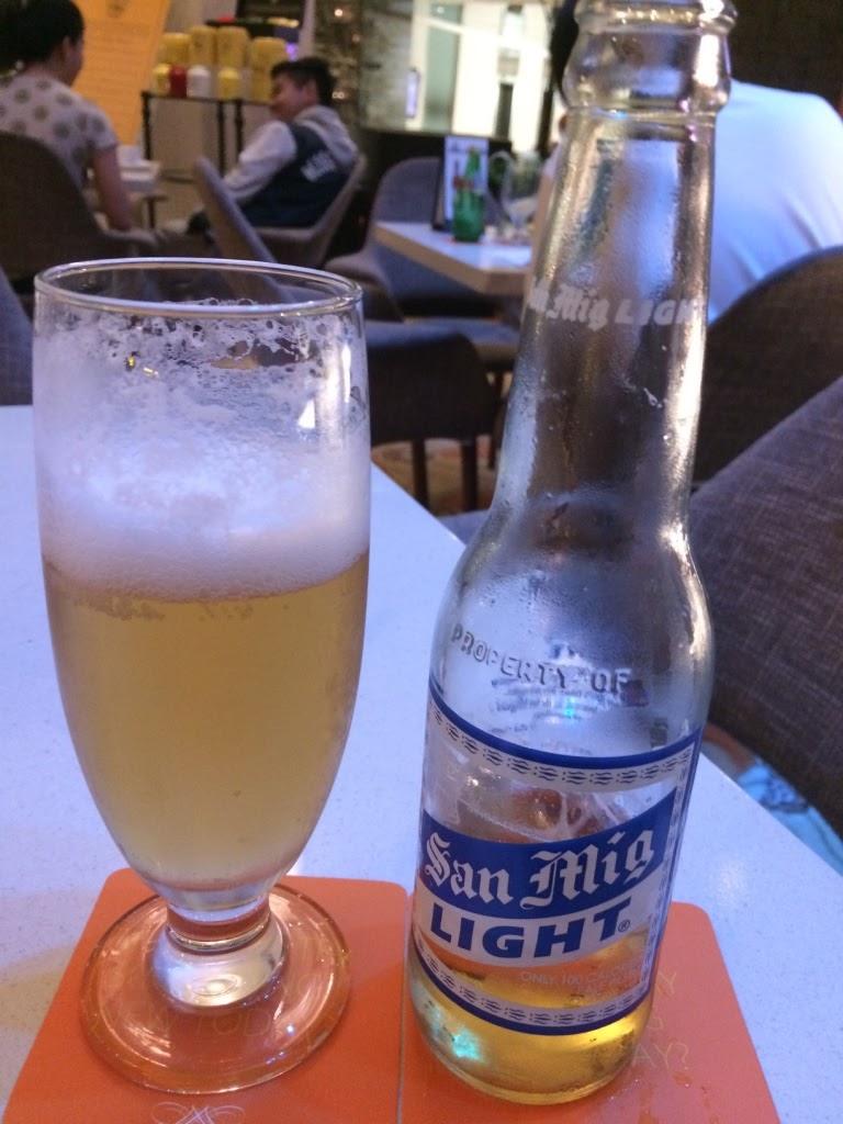 san miguel light beer bottle