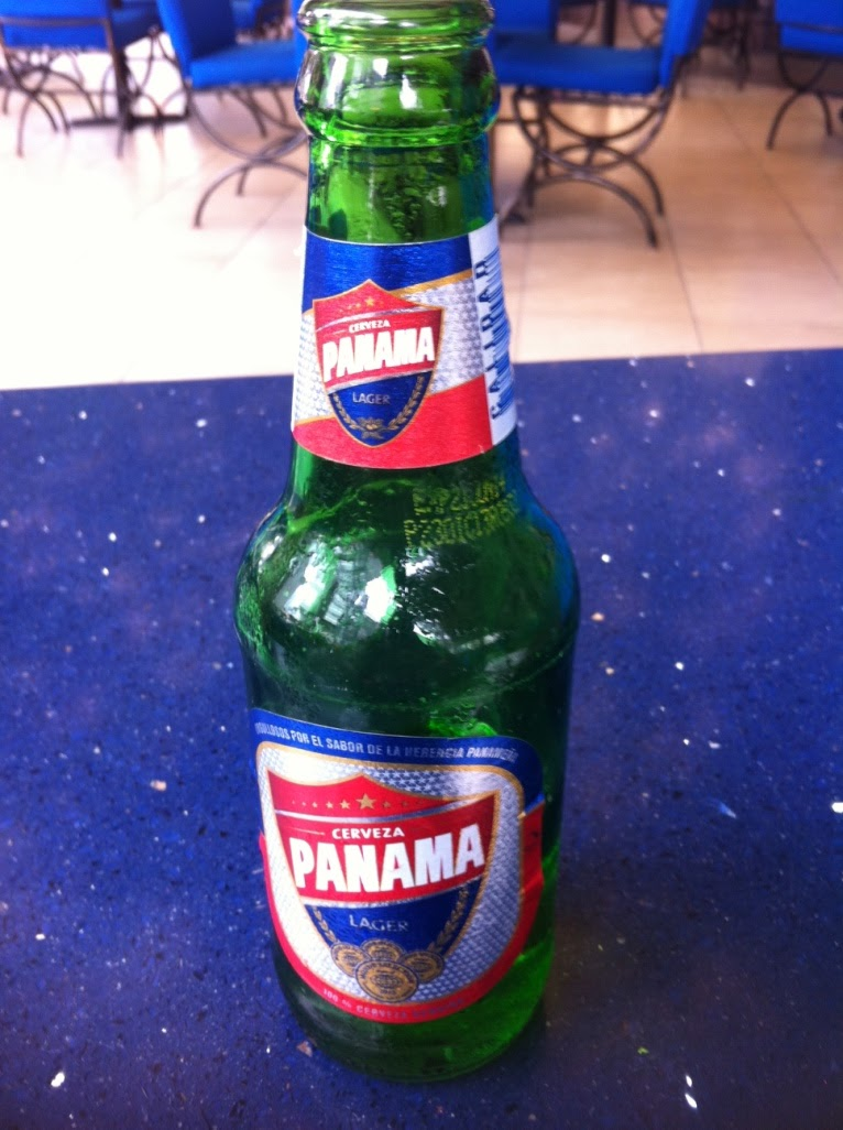 bottle of panama lager on table