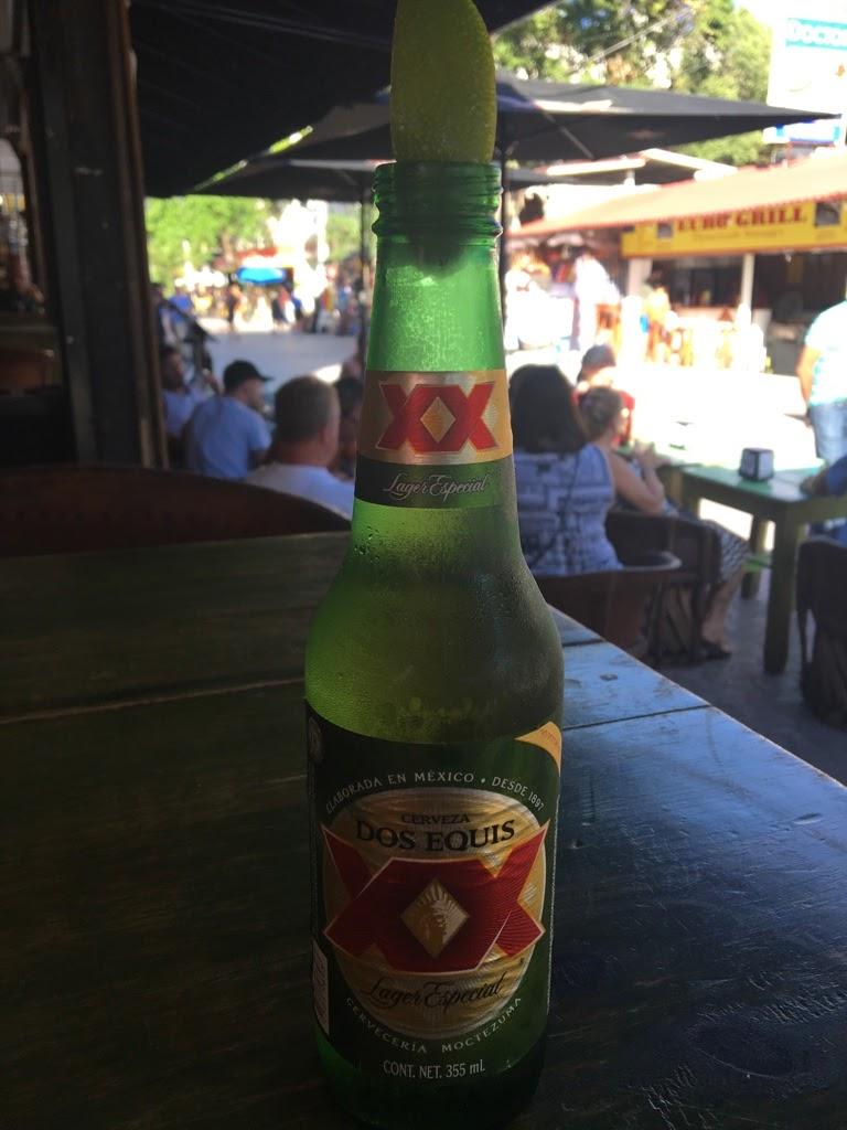 bottle of dos equis playa del carmen