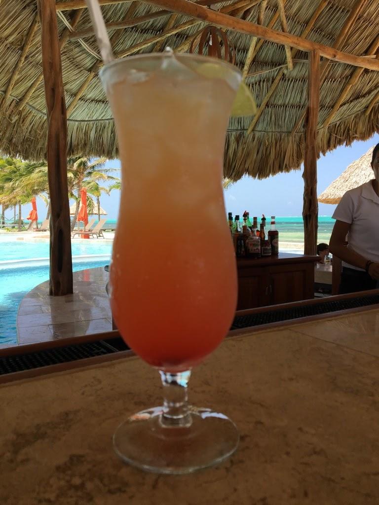 Rum punch in belize