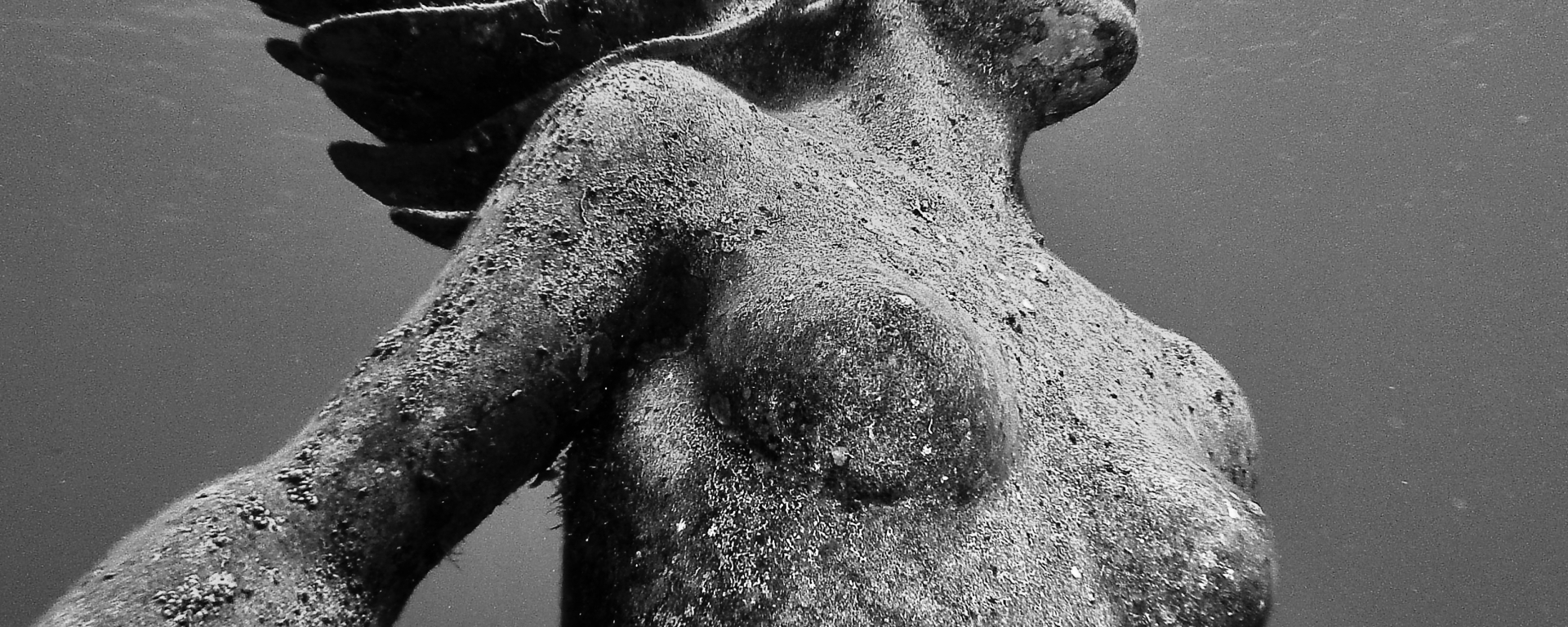 Underwater Mermaid statue, Amphitrite off the coast of Grand Cayman